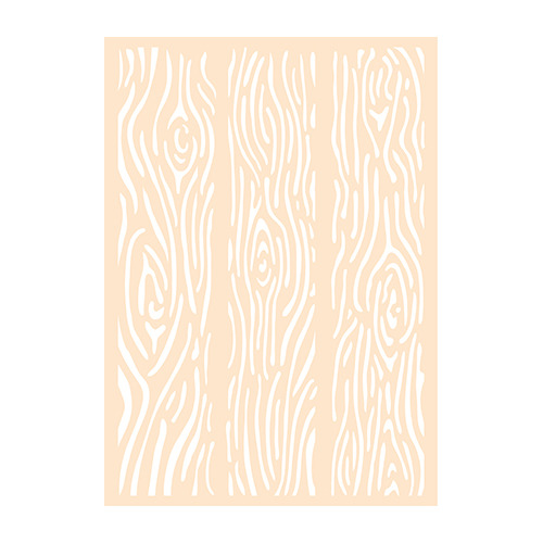 Polybesa Mixed mediastencil A6 - Houten planken