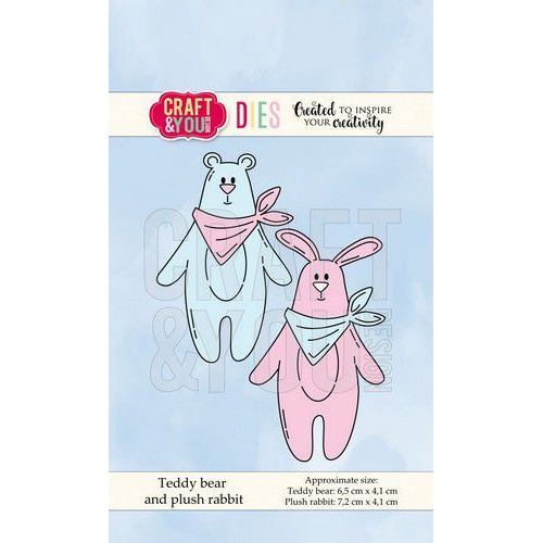 Craft&You Cutting Die Teddybeer en Pluche Konijn CW066