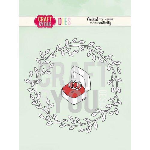Craft&You Cutting Die Bruiloft krans CW081
