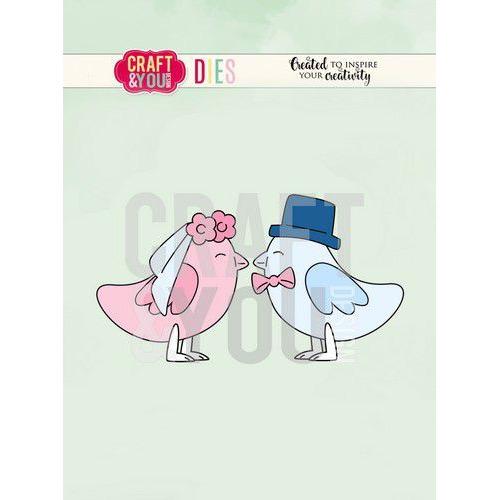 Craft&You Cutting Die Vogel bruidspaar CW084