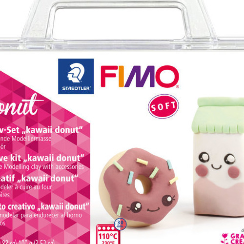 Fimo soft creatieve set Kawaii Donut