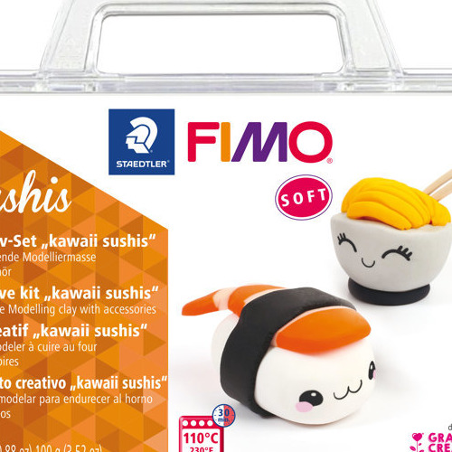 Fimo soft creatieve set Kawaii Sushis
