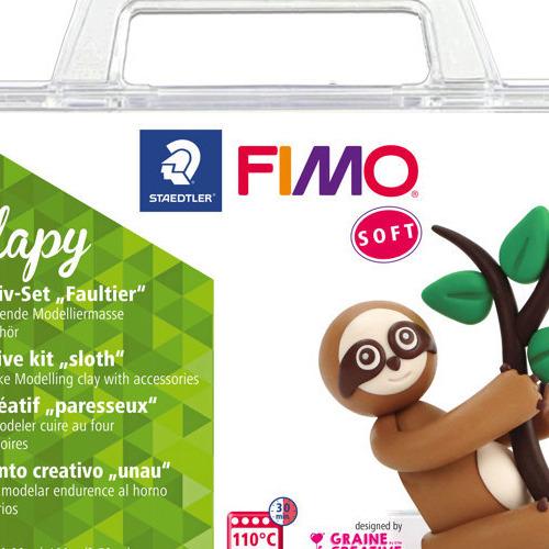 Fimo soft creatieve set luiaard Flapy