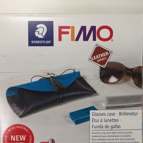 Fimo leather-effect DIY set - glasses case kit