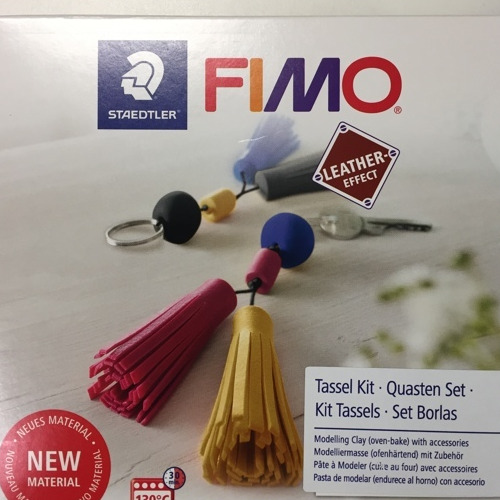 Fimo leather-effect DIY set - tassel kit