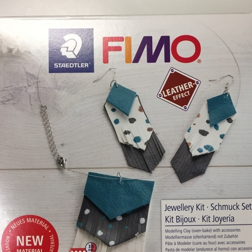 Fimo leather-effect DIY set - jewellery kit