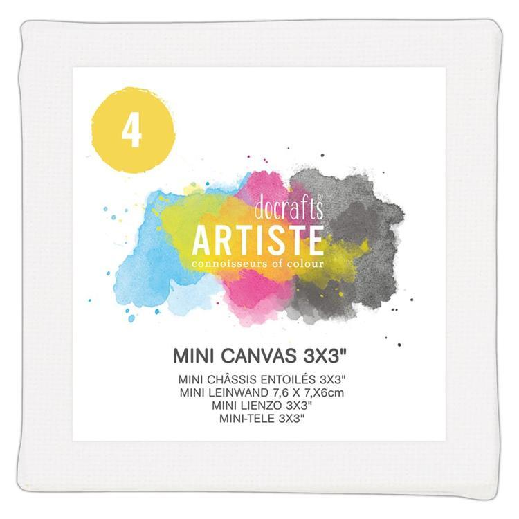 "Mini Canvas 3x3"" (4pk)"