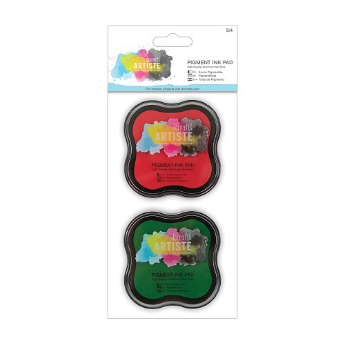 Pigment Ink Pad (2pk) - Red & Green