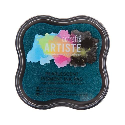 Pigment Ink Pad - Pearlescent Aqua