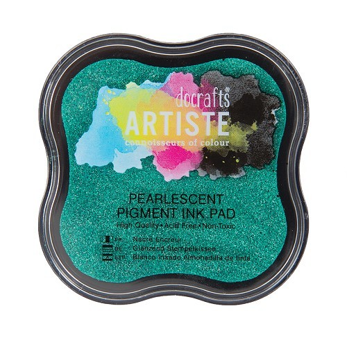 Pigment Ink Pad - Pearlescent Mantis Green
