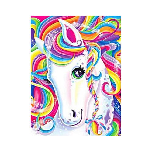 HLQ-02495 Diamond Painting vierkant unicorn colour