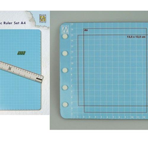 magentic ruler + stencil colour set