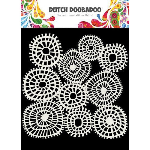 Dutch Doobadoo Dutch Mask Art 15x15cm lijnen  cirkels 470.715.618 (04-20)