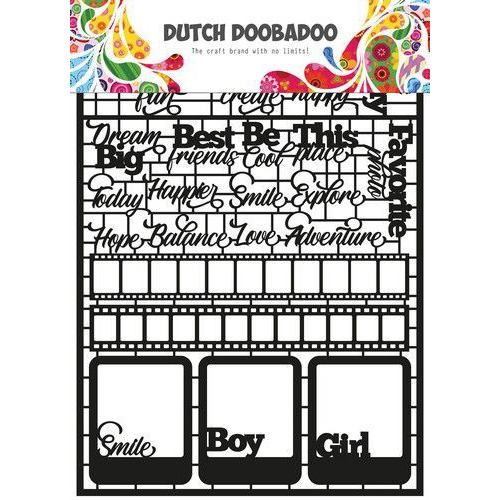 Dutch Doobadoo Dutch Paper Art Teksten A5 (Eng) 472.950.006 (04-20)