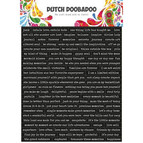 Dutch Doobadoo Dutch Sticker Art A5 Quotes (Eng) 491.200.001 (04-20)