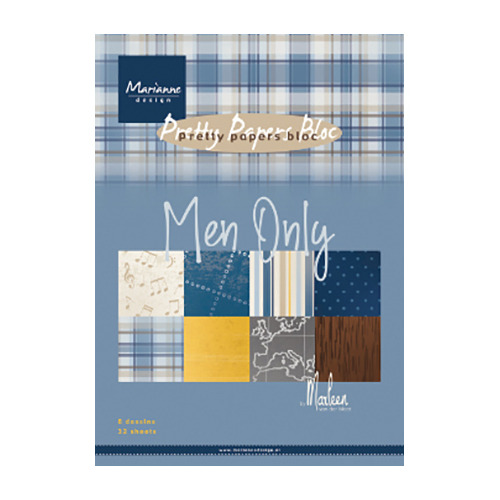 Paperpad Men only by Marleen