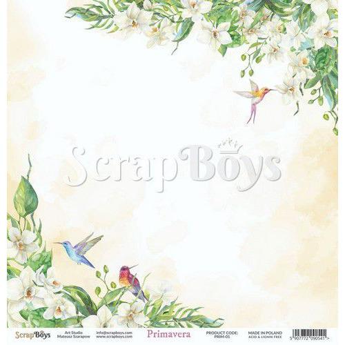 ScrapBoys Primavera paper sheet DZ PRIM-01 190gr 30,5cmx30,5cm (04-20)