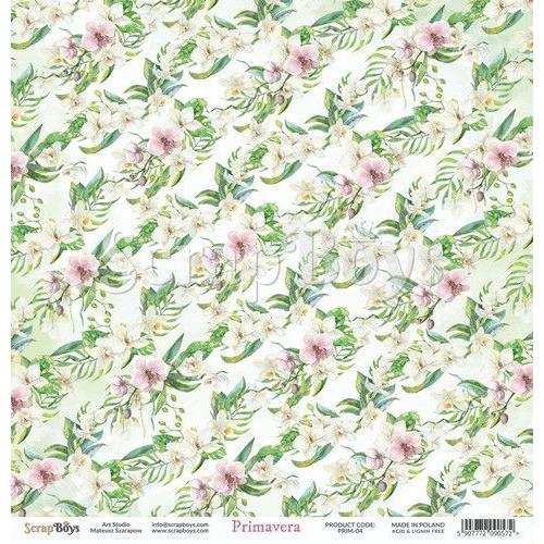 ScrapBoys Primavera paper sheet DZ PRIM-04 190gr 30,5cmx30,5cm (04-20)
