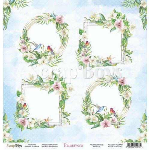 ScrapBoys Primavera paper sheet DZ PRIM-05 190gr 30,5cmx30,5cm (04-20)