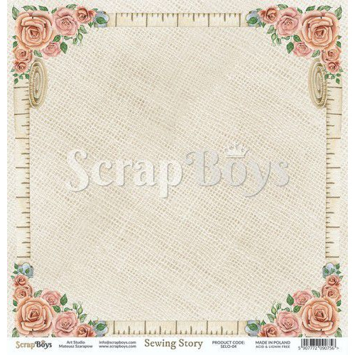 ScrapBoys Sewing Love paper sheet DZ SELO-04 190gr 30,5cmx30,5cm (04-20)