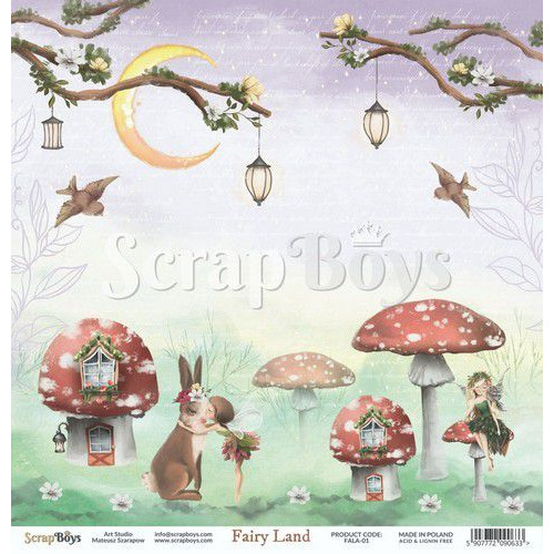ScrapBoys Fairy Land paper sheet DZ FALA-01 190gr 30,5cmx30,5cm (04-20)