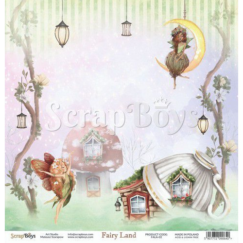 ScrapBoys Fairy Land paper sheet DZ FALA-02 190gr 30,5cmx30,5cm (04-20)