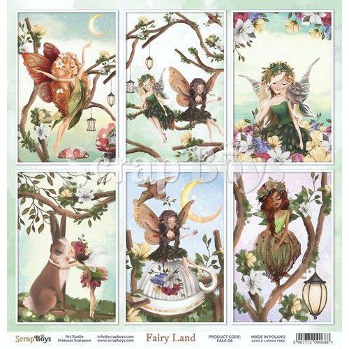 ScrapBoys Fairy Land paper sheet DZ FALA-06 190gr 30,5cmx30,5cm (04-20)