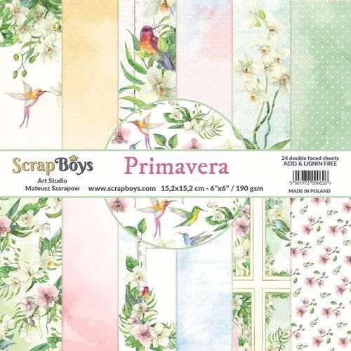 ScrapBoys Primavera paperpad 24 vl+cut out elements-DZ PRIM-02 190gr 15,2cmx15,2cm (04-20)