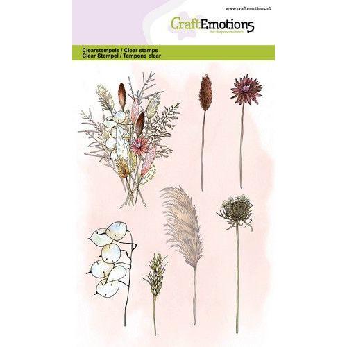 CraftEmotions clearstamps A6 - droogbloemen boeket en takken GB (05-20)
