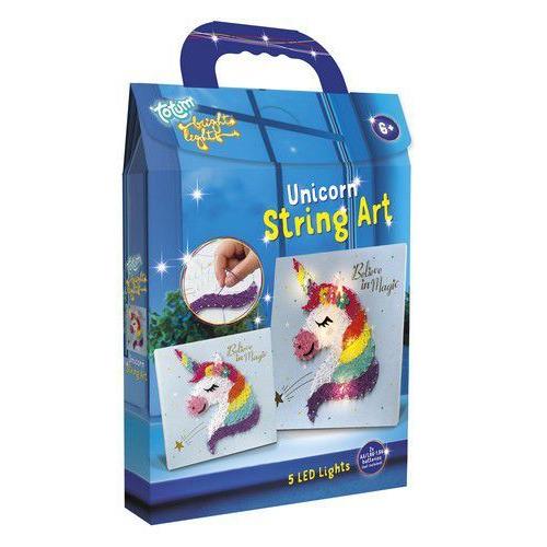 Totum kinder hobbyset Bright Lights string art Unicorn 071902 17,5x24x3,5cm (04-20)
