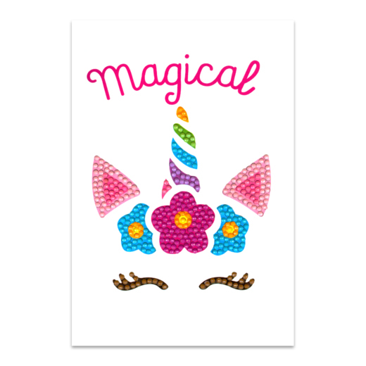 Craft Artist Diamond Art Card Kits - Unicorn Magical