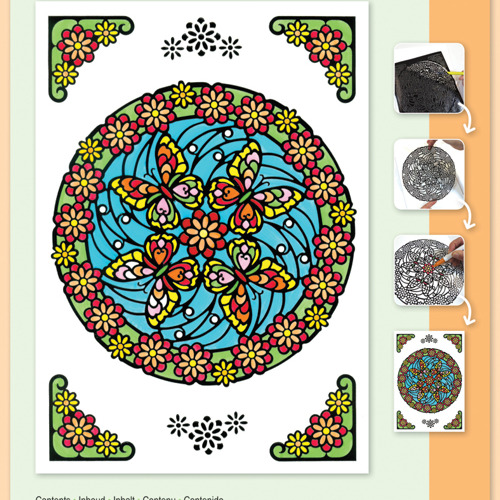 Mandala Butterflies set Markers included