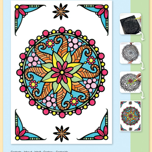 Mandala Flowers set Markers included