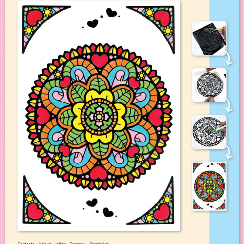 Mandala Hearts set Markers included