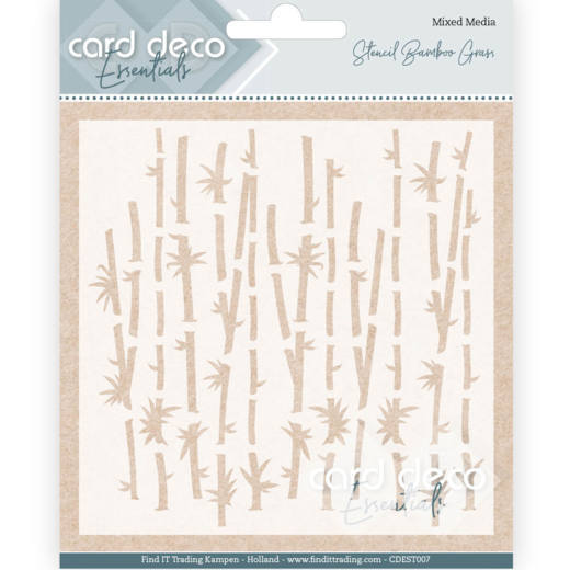 Card Deco Essentials - Stencil Bamboo Grass