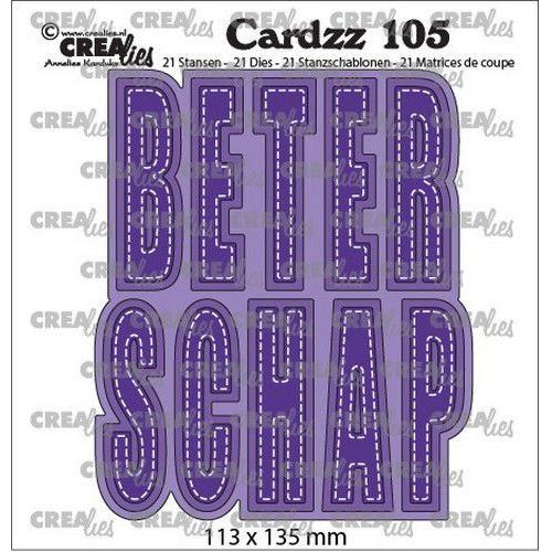 Crealies Cardzz no 105 Beterschap (NL) CLCZ105  (04-20)