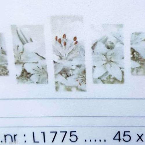 L1775 Diamond Painting rond 5 luik bruin met wit