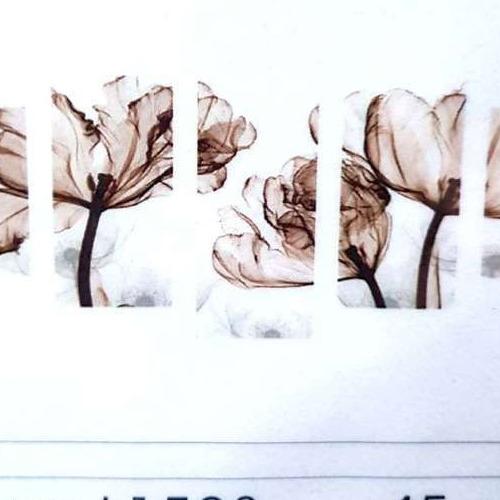 L1523 Diamond Painting rond 5 luik bruine bloem