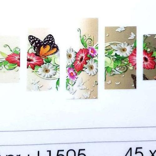 L1505 Diamond Painting rond 5 luik vlinder op bloemen