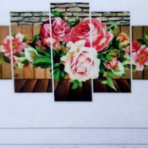 L1330 Diamond Painting rond 5 luik rozen