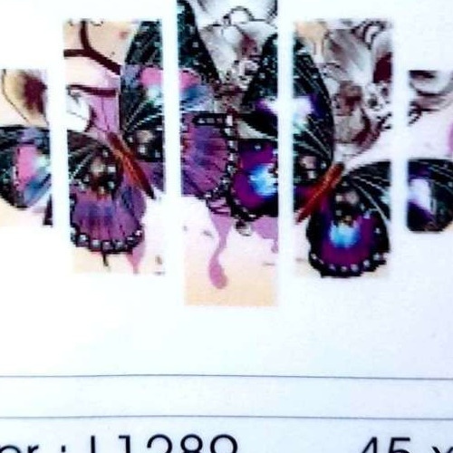 L1289 Diamond Painting rond 5 luik vlinders