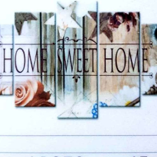 L1278 Diamond Painting rond 5 luik home sweet home