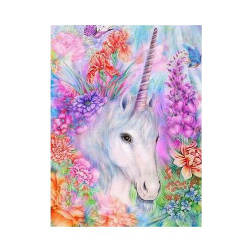 HLQ-02931 Diamond Painting rond unicorn