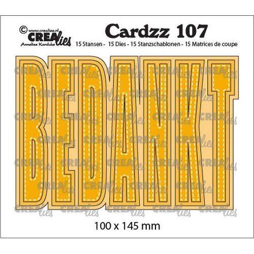 Crealies Cardzz BEDANKT (NL) CLCZ107 100x145 mm (05-20)
