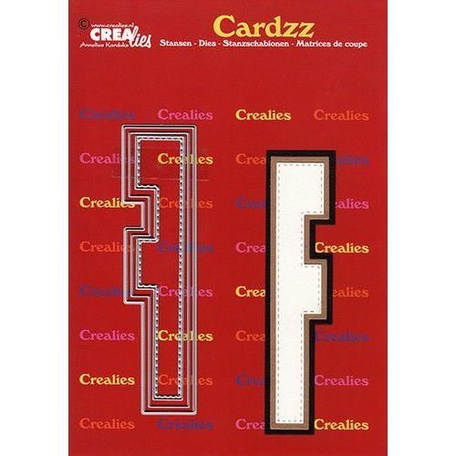 Crealies Cardzz letters letter F CLCZ406 max. 13 cm (05-20)