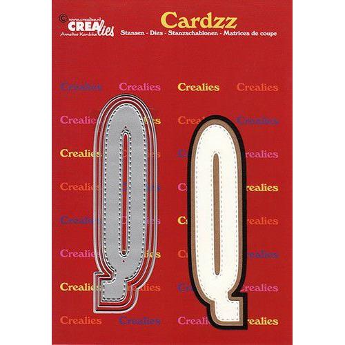 Crealies Cardzz letters letter Q CLCZ417 max. 13 cm (05-20)