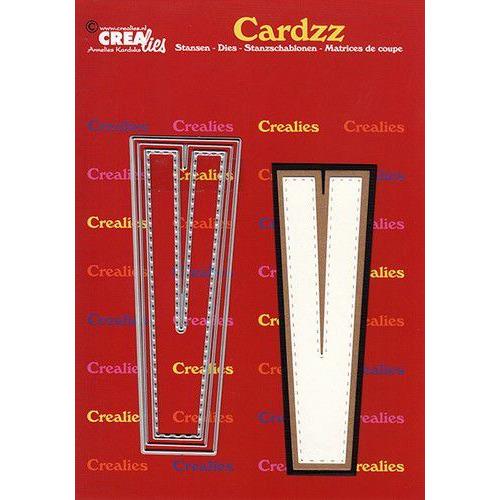 Crealies Cardzz letters letter V CLCZ422 max. 13 cm (05-20)