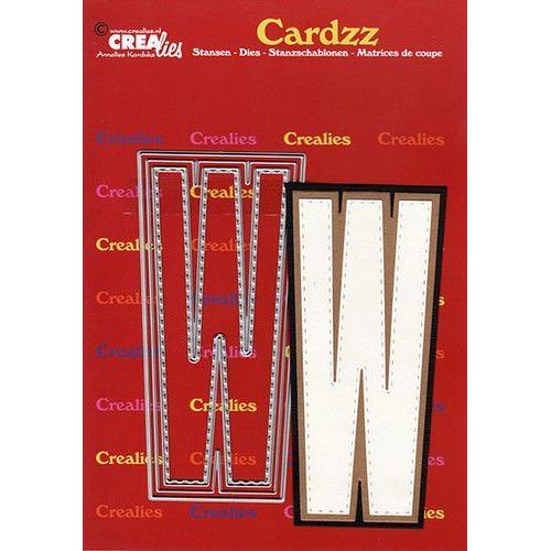 Crealies Cardzz letters letter W CLCZ423 max. 13 cm (05-20)