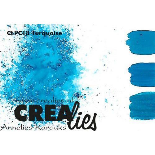 Crealies Pigment Colorzz poeder Turquoise CLPC18 (05-20)