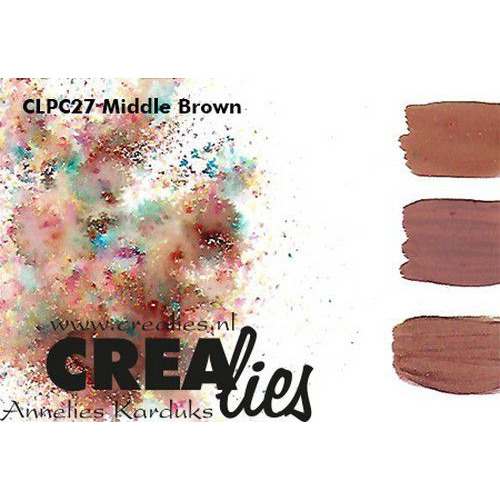 Crealies Pigment Colorzz poeder Middenbruin CLPC27 (05-20)